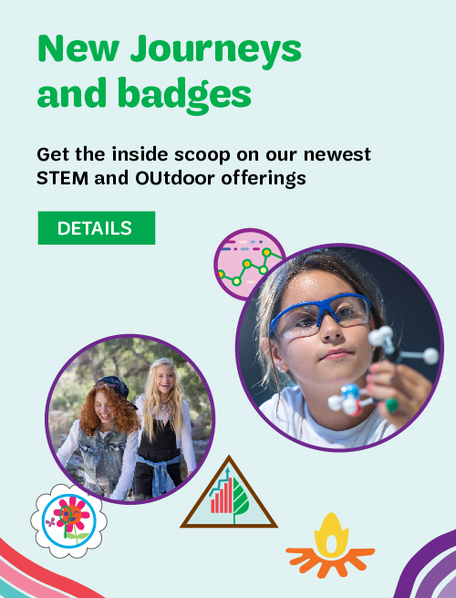 New journeys and outdoor badges