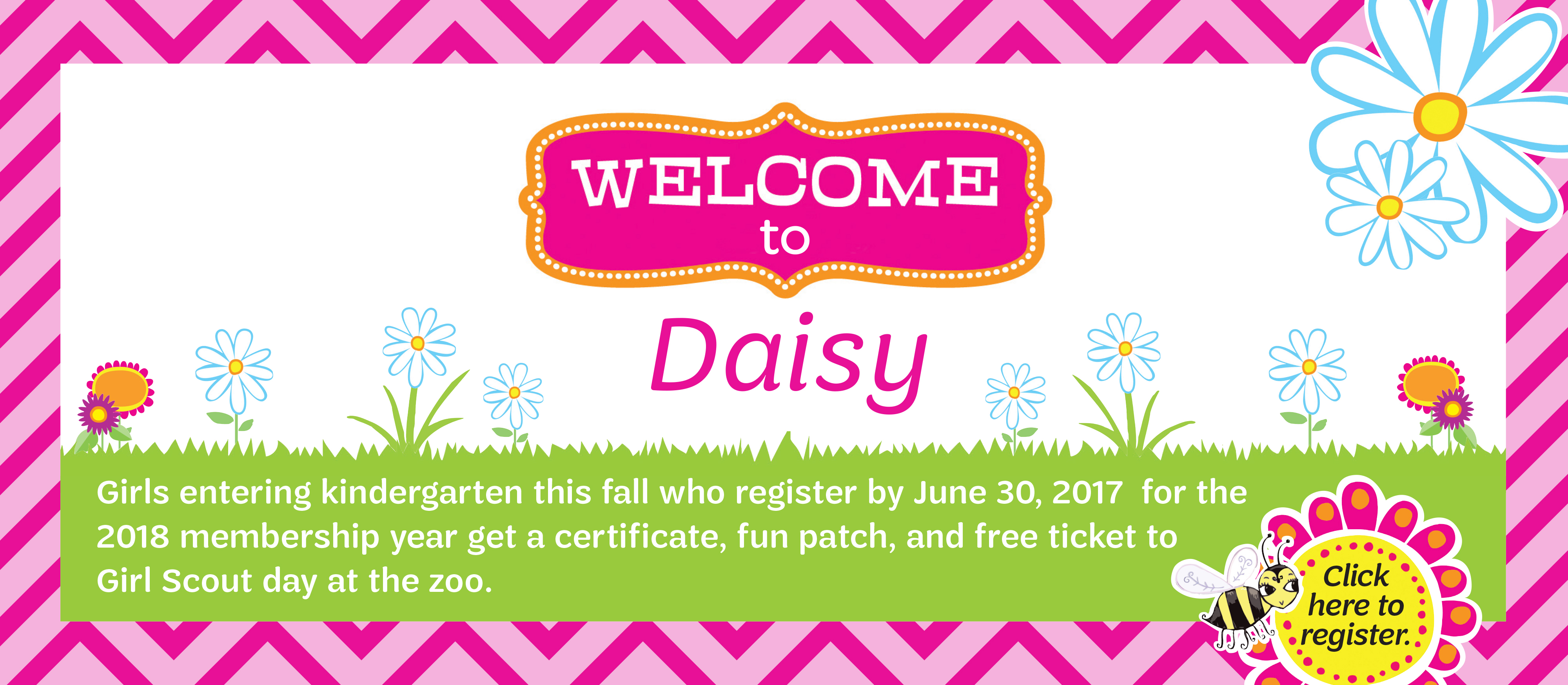 Welcome to Daisy banner