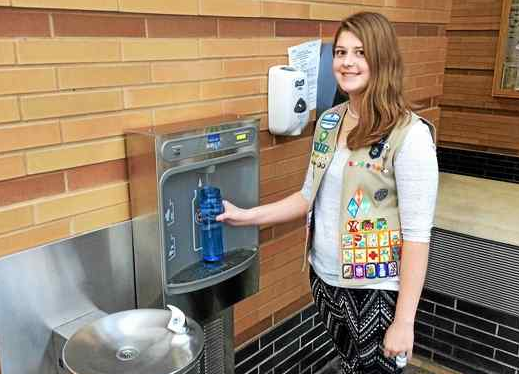 Perry senior Rebecca Waggel installs water filling station for Girl Scout Gold Award project newsroom